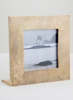 KELLY WEARSTLER | LUSTRE FRAME. Hand-sculpted square frame