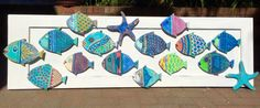 Fish Wall Art Painted Sign Beach House Decor от CastawaysHall