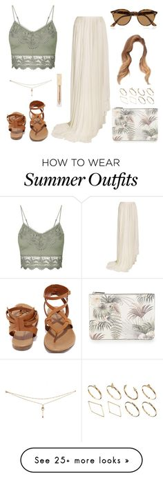 """Summer Outfit #18"" by one-direction-outfits-of-the-day on Polyvore featuring Topshop, Vionnet, Breckelle's, Ray-Ban, Burberry, Warehouse and ASOS"