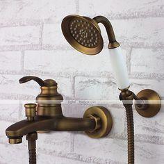 Robinet de baignoire - Antique - Douchette inclue - Laiton (Laiton Antique) de 2015 à €111.14