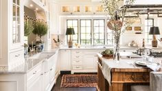 Kitchen at Lake Forest Showhouse Kitchen French Country Farmhouse by M and M Interior Design