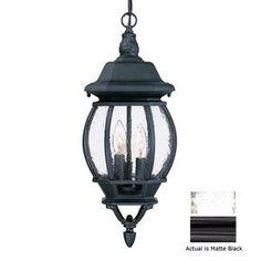 Acclaim Lighting Chateau 19-1/2-in Matte Black Outdoor Pendant Light