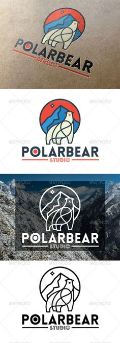 Polar Bear Logo Design Template Vector #logotype Download it here: http://graphicriver.net/item/polar-bear-logo/7812105?s_rank=1008?ref=nexion