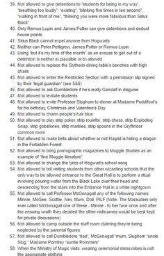 101 Things the Marauders Are Not Allowed, Under Any Circumstances, To Do part 3/5