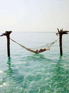 A hammock in the water! Any girl's dream.