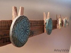 Artsy VaVa: Measuring Up--Embellished yardstick is photo display