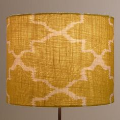 One of my favorite discoveries at WorldMarket.com: Green Gate Drum Table Lamp Shade