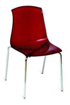 Sydney Acrylic Side Chair - Red