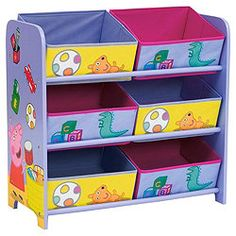 Peppa Pig Toy Storage <3 Peppa Pig Teddy, Peppa Pig Family, Toy Rooms, Big Girl Rooms, Room Accessories, Storage Bins, Kids Bedroom, Playroom, Princess Adventure