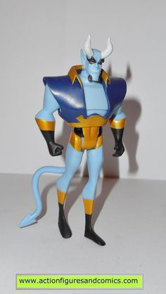 mattel toys action figures for sale to buy: JUSTICE LEAGUE UNLIMITED dc universe animated BLUE DEVIL Condition: overall excellent figure size: 4 1/2 inches --------------------------------------------