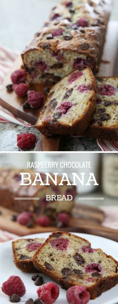 Recipes | Raspberry Chocolate Bread | This easy and delicious Raspberry Chocolate Chip Banana Bread Recipe is perfect for breakfast or a sweet treat! An easy Quick Bread Recipe!