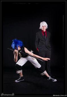 Le cosplayeur Antonin en Black Star et son ami Olivier en Soul, du manga Soul Eater  Découvrez sa page => https://www.facebook.com/antonin.pusnel