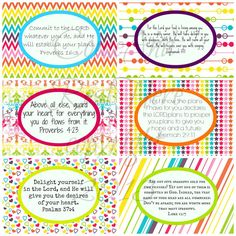 Printable Rainbow Scripture Cards for Girls by ComeAndRestHere, $5.00