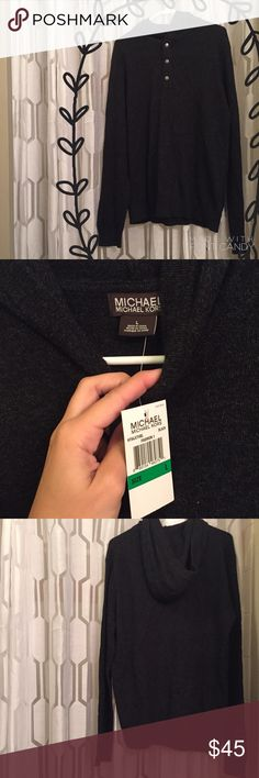 Men's Michael Kors Sweater Men's Brand new never worn with tags Michael Kors sweater/hoodie in perfect condition. Size large with three buttons on the front! Bought from Nordstroms and would make a Perfect gift. Originally $89 Michael Kors Sweaters Crewneck