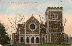The Chapel, Vassar College postcard by Deluxx, via Flickr