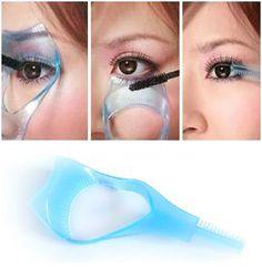 Three tipos de función efectos no manchados de párpados herramientas herramientas de maquillaje tarjeta de pestañas y el rimel rimel cepillo m68-jms