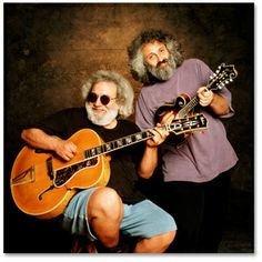 Jerry Garcia and David Grisman made sweet pickin' music..Jerry is missed by so many.