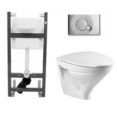 Ifö Sign 6875 Vägghängd WC med fixtur och spolknapp