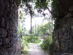 Through the entrance into the round, Park Cismigiu, Bucharest