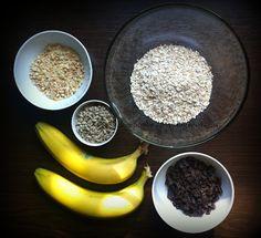 Staying Healthy. Keeping Fit.: bananowe ciasteczka owsiane z gorzką czekoladą