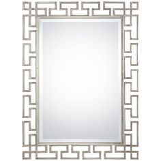 Uttermost Agata Antiqued Silver Leaf Mirror