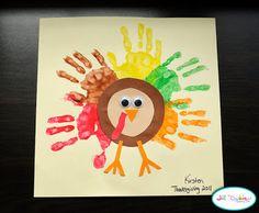 handprint turkey craft @Christina & Stancato