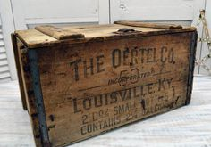 Vintage Wooden Oertel Beer Crate available from Old Time Pickers - Wood Crates Shipping