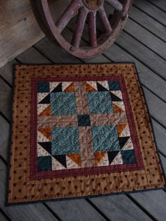 Very nice version of the Sept. quilt from Kathy Tracy's Small Quilt Group