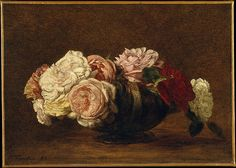 Henri Fantin-Latour (French, 1836–1904). Roses in a Bowl, 1883. The Metropolitan Museum of Art, New York. The Walter H. and Leonore Annenberg Collection, Bequest of Walter H. Annenberg, 2002 (2003.20.6)