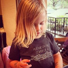 Pin for Later: Reese Witherspoon, Neil Patrick Harris, and More Shared Photos of Their Sweet Littles This Week!  Hattie rocked the coolest t-shirt and temporary tattoos — get this kid on the cover of Rolling Stone!