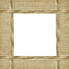 beige canvas ribbon and textile frame