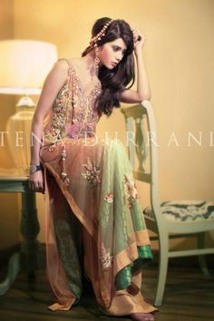 Mango Net from Tena Durrani's Camellia Collection Product Code: C13  Contact 0321-2324600
