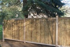 Framed 1 in. Bamboo Friendly Fence