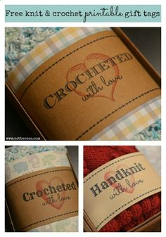 FREE Printable gift tag for crochet or knit - Cobberson  Co.
