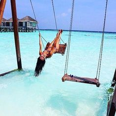 swinging in the Maldives