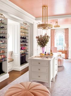 """We'd like a house that looks as if it's been there for a hundred years, just with all the modern amenities."" Architect James Paragano replied, ""That's exactly what I do."" #farmhouse #newjerseyhome #estate #homeinspo #classic #artistichome #interiordesign #architecture #traditionalhome #elledecor Dressing Room Closet, Dressing Room Design, Dressing Rooms, Luxury Closet, Dream Closets, Open Closets, Closet Designs, Beauty Room, My New Room"