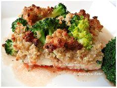 Fischauflauf mit Tomaten und Brokkoli-Streuselkruste