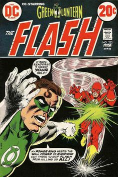 The Flash #222 (Aug '73) cover by Nick Cardy & Dick Giordano.