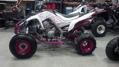 My custom Raptor 700. had some parts powder coated in raspberry pink. ❤❤