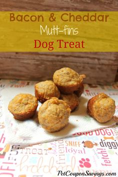 Bacon and Cheddar Muttfins Dog Treats