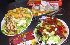 We have a fine selection of fresh and fulfilling salads! There's something for everyone around the dinner table when you order Pro Tip: Order delivery online 7 times and get a large 2 topping pizza for free! Pizza Sides, Pizza Special, Order Pizza, Mamas And Papas, Greek Salad, Grilled Chicken, Cobb Salad, Cravings, Salads
