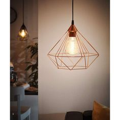 Buy the Eglo Matte Black Direct. Shop for the Eglo Matte Black Tarbes Wide 1 Light Cage Style Single Pendant and save. Cage Pendant Light, Large Pendant Lighting, Copper Pendant Lights, Cage Light, Black Pendant Light, Pendant Lamp, Round Pendant, Breakfast Bar Lighting, Color Cobre