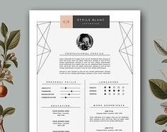 Resume Template instant download. Printable by ResumeHarbour