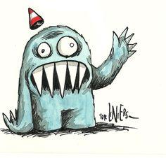 Ricardo Siri Liniers – Olga Cute Fantasy Creatures, Cute Creatures, Cartoon Kunst, Cartoon Art, Arte Tim Burton, Children's Comics, Monster Illustration, Scary Monsters, Humor Grafico