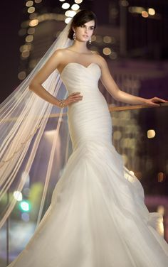 organza dress with sweetheart neckline