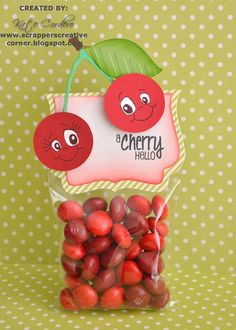 Created by Kate using Feeling Fruity, Fancy Topper Die and 3x4 bag. http://jadedblossom.bigcartel.com/