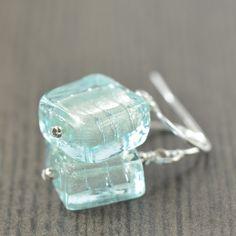 #Pantone Color crush // #Aquamarine Murano glass earrings