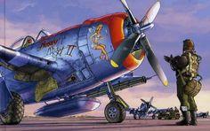 "Romain Hugault's P-47 ""Busty Angel"""