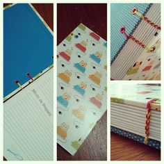 Recipes Notebook | Funny Toasters | Costura Coptic Stitch | by Fernanda Pasqualeto