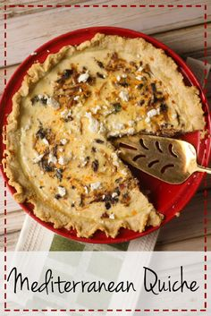 Mediterranean Quiche - easy, delicious, and perfect for company.